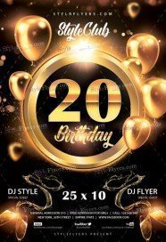 Free birthday flyer psd templates download styleflyers birthday party free flyer psd template maxwellsz