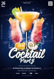 Cocktail Night PSD Flyer Template