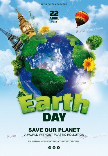 Earth Day PSD Flyer Template