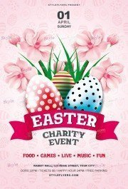 Easter Charity Event PSD Flyer Template