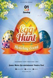 Easter Egg Hunt Holiday Event PSD Flyer Template