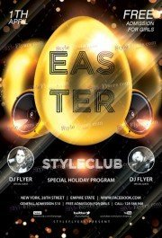 Easter PSD Flyer Template