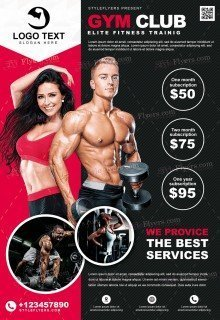 GYM PSD Flyer Template