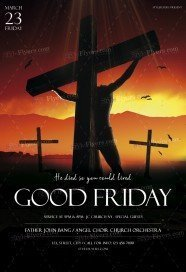 Good Friday PSD Flyer Template