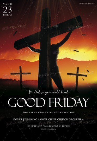 Good Friday PSD Flyer Template