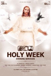 Holy Week PSD Flyer Template