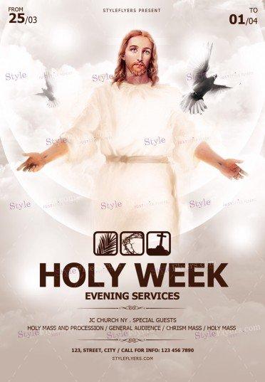 Holy Week PSD Flyer Template