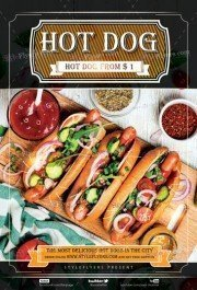 Hot Dog PSD Flyer Template