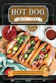Hot Dog PSD Flyer Template