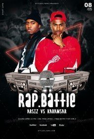 Rap Battle PSD Flyer Template