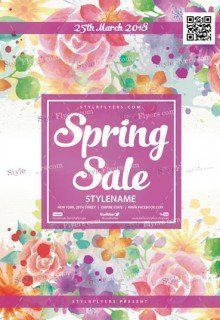 Spring Sale PSD Flyer Template