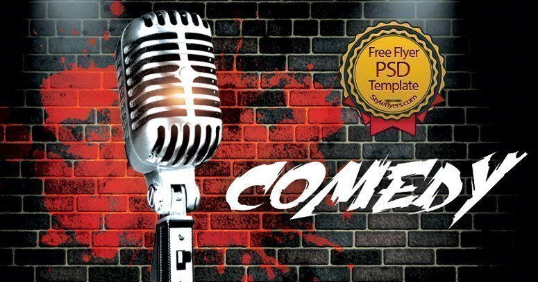 Comedy Free Psd Flyer Template Free Download   Styleflyers