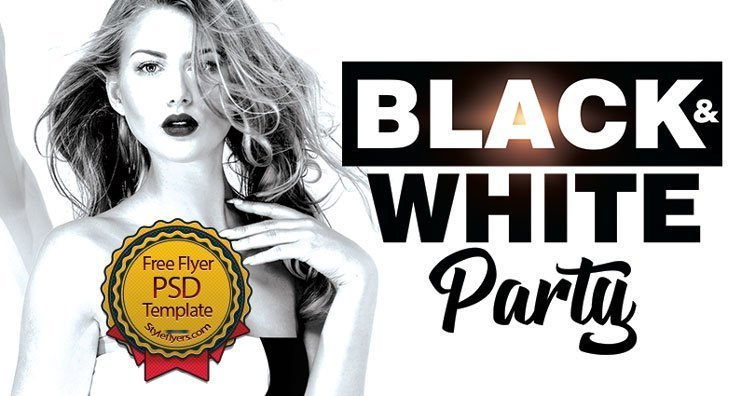 black white party free flyer psd free download 23715 styleflyers