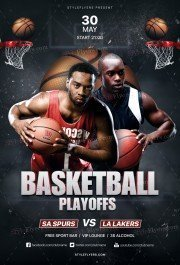 Basketball Playoffs PSD Flyer Template