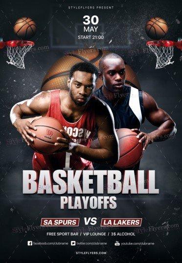 Basketball Playoffs PSD Flyer Template
