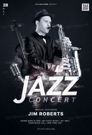Jazz Concert PSD Flyer Template