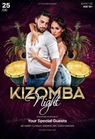 Kizomba Night PSD Flyer Template