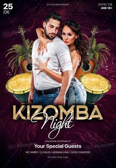 Kizomba Night PSD Flyer Template