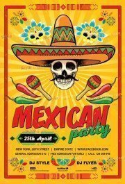 Mexican Party PSD Flyer Template