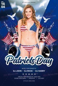 Patriot's Day PSD Flyer Template