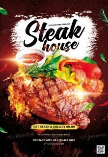 Steak House PSD Flyer Template