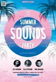 Summer Sounds PSD Flyer Template
