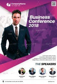 Business Conference PSD Flyer Template