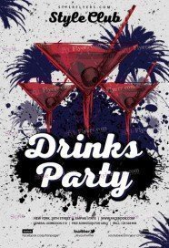 Drinks Party Flyer Template