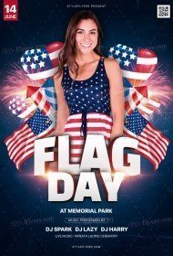 Flag Day PSD Flyer Template