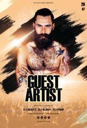 Guest Artist PSD Flyer Template