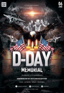 D-Day Memorial PSD Flyer Template