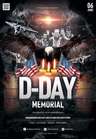 D-Day Memorial PSD Flyer Template