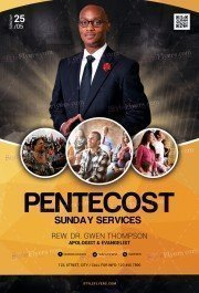 Pentecost. Church PSD Flyer Template