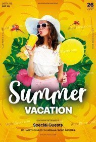 Summer Vacation PSD Flyer Template