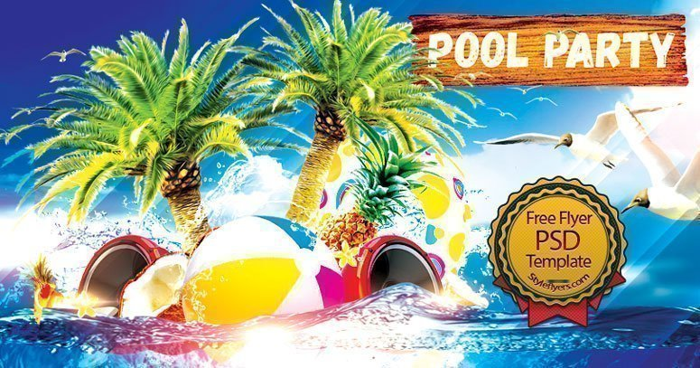 Pool Party FREE Flyer PSD Free Download 24247