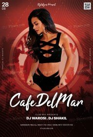 Cafe Del Mar Party PSD Flyer Template