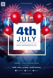 Fourth Of July PSD Flyer Template