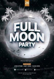 Full Moon Party PSD Flyer Template
