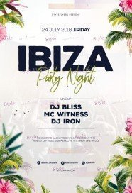Ibiza Party Night PSD Flyer Template