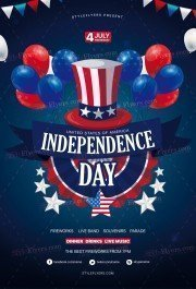 Independence Day PSD Flyer Template