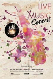 Live Music Concert PSD Flyer Template