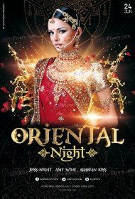 Oriental Night PSD Flyer Template