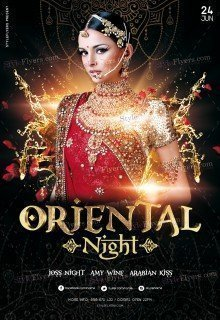 Oriental Night PSD Flyer Template