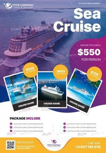 Sea Cruise PSD Flyer Template