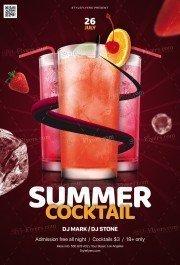 Summer Cocktail PSD Flyer Template