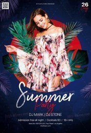 Summer PSD Flyer Template