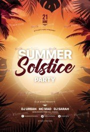 Summer Solstice Party PSD Flyer Twemplate