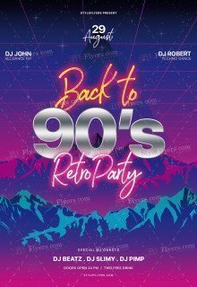 Back-to-90's---Retro-Party_psd_flyer
