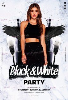 Black&White Party PSD Flyer Template