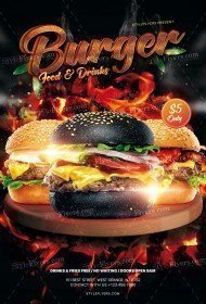 Burger PSD Flyer Template